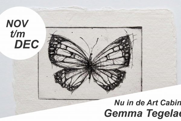 November t/m december in de Art Cabin: Gemma Tegelaers!