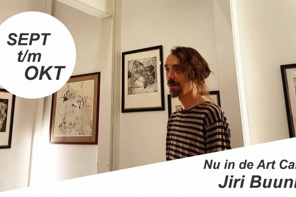 September t/m oktober in de Art Cabin: Jiri Buunk!