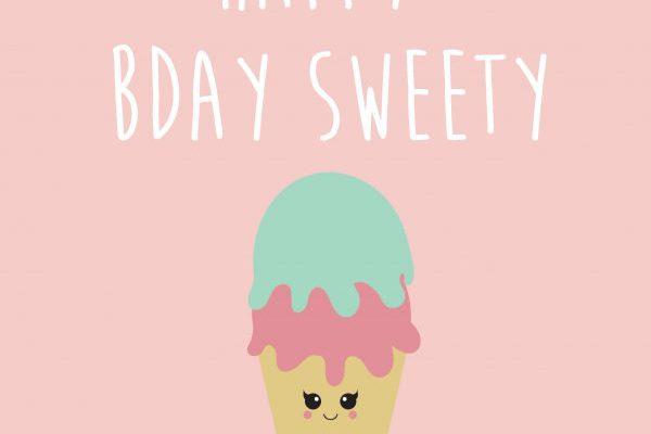 Happy birthday sweety – Studio Inktvis