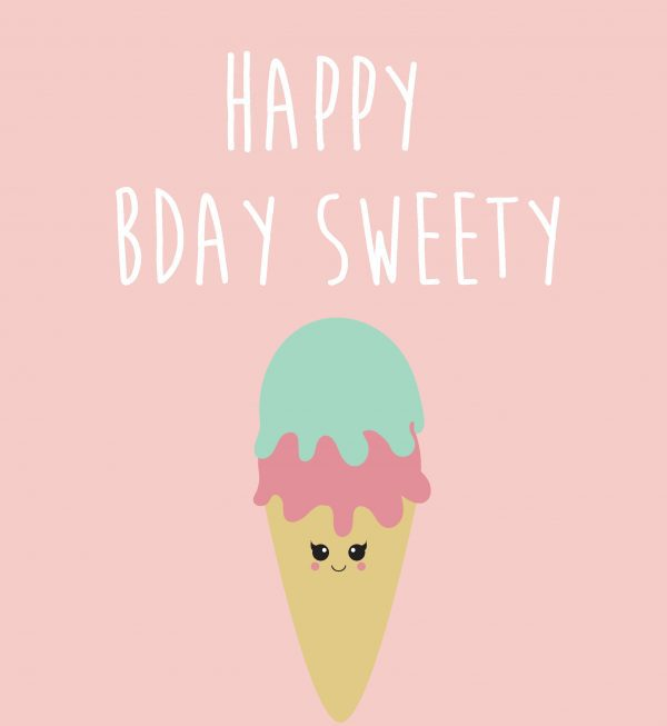 Happy birthday sweety – Studio Inktvis