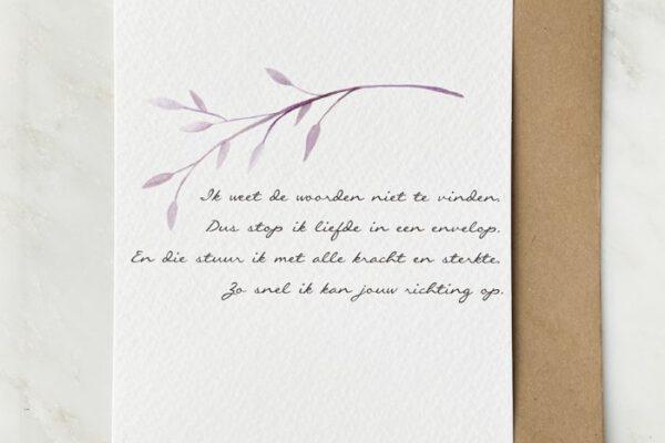 Liefde in een envelop – Vers van de Pers