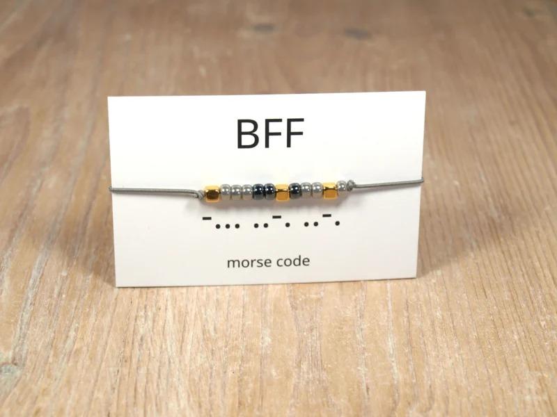 Morse code BFF – Winkel van Indah