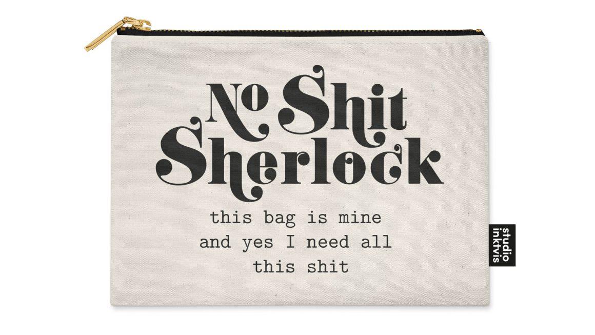 Etui No shit Sherlock – Studio Inktvis