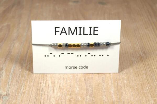 Morse code Familie – Winkel van Indah