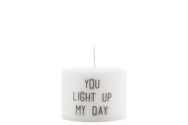 Kaars 'You light up my day'