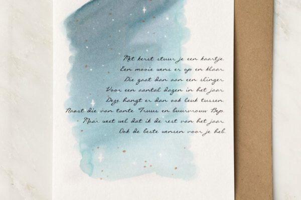 Kerstkaartje – Vers van de Pers