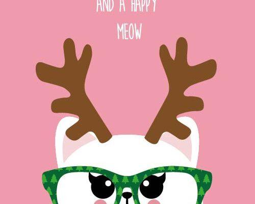 Merry xmas and happy meow – Studio Inktvis