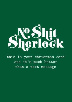 No shit Sherlock christmas – Studio Inktvis