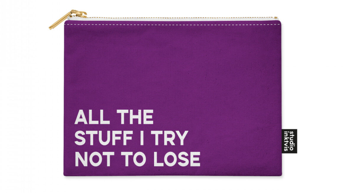 Etui 'All the stuff I try not to loose' – Studio Inktvis