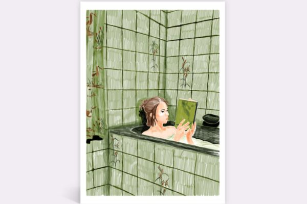 Bathtub book girl  – Leandra du Pau