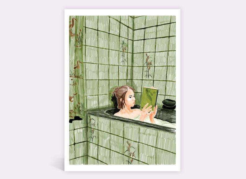 Bathtub book girl  – Leandra du Pau