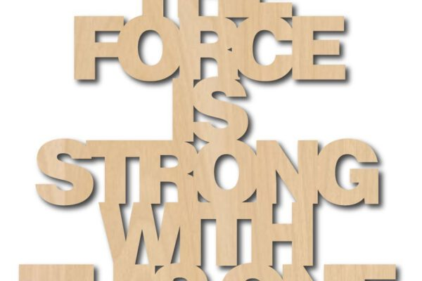 Quote 'the force is strong with this one' – Studio Inktvis